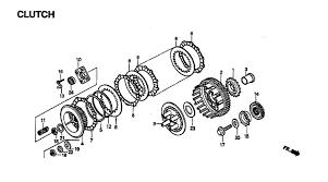 1995 honda shadow vlx 600 vt600c clutch parts best oem h01530014 gif