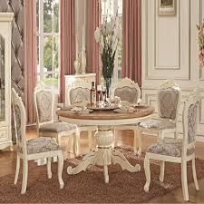china guangzhou ivory white handmade wood dinning room sets european solid wood dining tables and chairs bination in dining room sets from furniture on