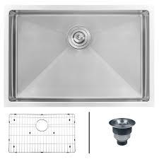 ruvati undermount stainless steel 28 in 16 gauge single bowl kitchen sink
