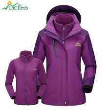 LoClimb 3 In 1 <b>Winter Ski Jackets Women</b> Trekking Fleece ...