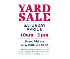 Yard Sale Template Microsoft Word Garage Sale Flyer Template Word