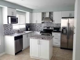 Microwave In Kitchen Cabinet Kitchen Modern White Shaker Kitchen Wardrobe Cabinets Wall Oven