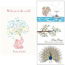 Fingerprints Tree Guest Signing Book Canvas Signature Guestbook