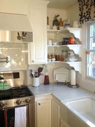 Smart Idea Kitchen Open Shelving Corner Martha S Renovated In California  Hooked On Houses