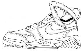 Nike Shoes Coloring Pages New Jordan Shoes Coloring Sheets Nike Air