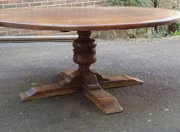 huge 2 metre 6ft diameter antique oak round table large round 6ft diameter oak jacobean revival
