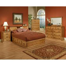 Traditional Oak Platform Bedroom Suite - Cal King Size - Oak For Less  Furniture ...