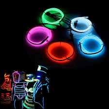 17 best ideas about electroluminescent wire mens 5 x 1 metre five colors bright neon glowing strobing electroluminescent wire el wire for