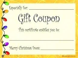Free Printable Gift Certificate Template Word Gift Coupons Template Free Printable Gift Coupon Template