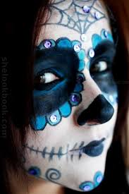day of the dead mexican sugar skull makeup tutorial on