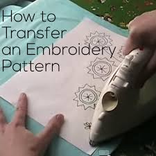 How To Transfer Embroidery Pattern
