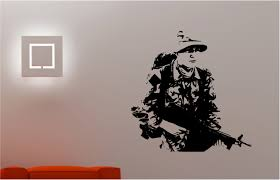 Small Picture Army soldier military man wall art sticker bedroom Kids Childrens