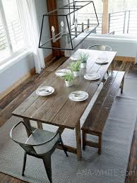 Farmhouse dining tables typically feature natural wood or distressed paint finishes. 25 Diy Dining Tables Bob Vila