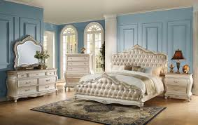 White Bedroom Furniture Set Queen Houston Tx Gold Pu Pearl Reviews Home  Best Acme Q ...