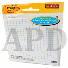 Post It Super Sticky Notes On Grid Paper 4621 2ssgrid 2 Pads Pack