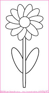 Coloriage Facile De Fleurlll L