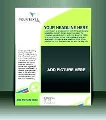 Basic Brochure Template Blank Flyer Free Download Templates