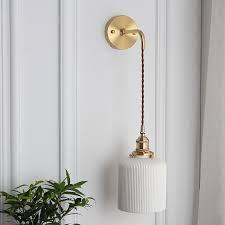 ceramic wall light cord lighting