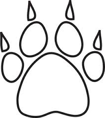 bulldog paw print outline. Beautiful Print Free Paw Print Image Dog With Claws Inside Bulldog Paw Print Outline A