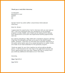 Examples Of Thank You Emails Thank You Letter After Interview Template Juanbruce Co
