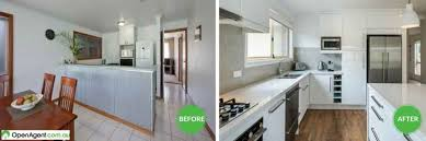 kitchen before and after renovation australia