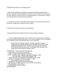 cellular respiration notes chapter 7 cellular respiration possible essay questions for chapters 8 and 9 1 describe the