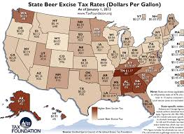 State Beer Excise Tax Rates Dollars Per Gallon
