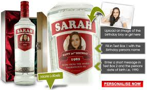 personalised smirnoff vodka bottle