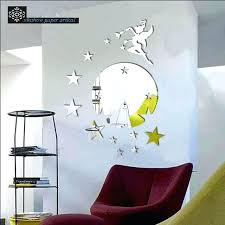 angel wings mirror style angel girl star crystal stereo wall decor makeup mirror wall stick angel angel wings