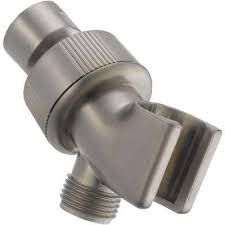 adjule shower arm mount for hand shower in stainless