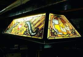 stained glass pool table light custom