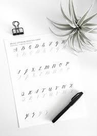 brush lettering font practice. free brush lettering practice sheet - capital letters   @drawntodiy font