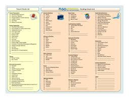 Free Travel Packing Checklist Pdf Templates At