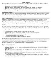 scholarship essays example word pdf documents scholarship essay template