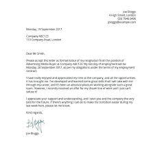 Format Letter Of Resignation Format Of Regine Letter Professional Resignation Letter Example