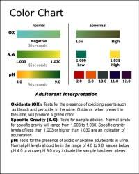 Mouth Swab Drug Test Color Chart Drug Testing Chart