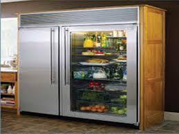 Glass Door Home Refrigerator Clear Door Refrigerator Refrigerator Reach In Three Section