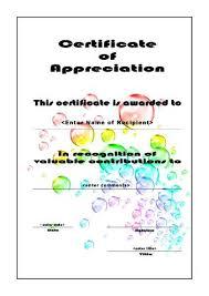 Certificates Of Appreciation Free Printable Certificates Of Appreciation Thank You