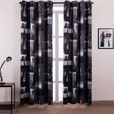 White And Black Curtains For Living Room Online Get Cheap Black Blackout Curtains Aliexpresscom Alibaba