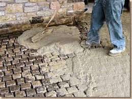 stone paving wet grouting