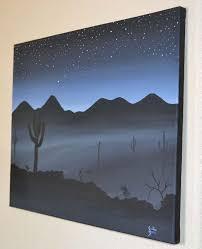 easy acrylic painting on canvas ideas misty night acrylic painting on stretched canvas