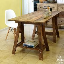 rustic diy furniture. Rustic Desk With Stained Legs Via Abirdsleap Diy Furniture D