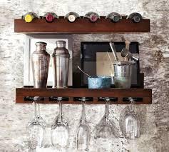 wine glass rack pottery barn. Holman Entertaining Shelves | Pottery Barn Wineglass And Winebottle Shelf, Both In Espresso Wine Glass Rack N