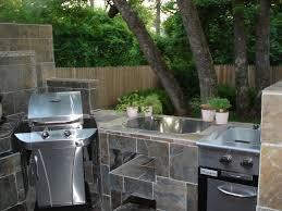 stone modular outdoor kitchen island