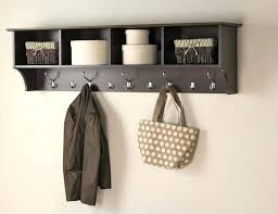 Coat Rack With Storage Shelves Inspiration Basic Wall Storage Shelves With Hooks S32 Clothing Hooks Wall