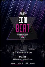 poster psd edm beat free psd flyer template free psd flyer download free