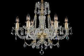 6 light classic georgian style chandelier in brass
