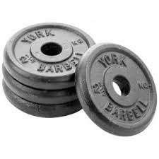 york weight plates. york black cast iron 1\ weight plates