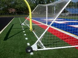 grass soccer field with goal. Soccer Goal Safety Anchor Grass Field With