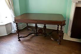 antique dining table walnut 1920 1930 by VintageChicFurniture